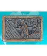 DIY VERY OLD Oriental INTRICATELY CARVED WOOD TRINKET/JEWELRY BOX 5.25x3... - $19.99