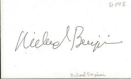 Richard Benjamin Signed 3x5 Vintage Index Card Westworld Quark - $19.79