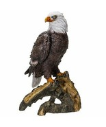 Pacific Giftware American Eald Eagle Perching on Tree Branch Resin Figur... - £20.60 GBP