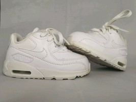 Kids Baby Nike Air Max 90 White Shoes Size 4C Toddler - $14.84