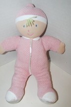 Kids Preferred doll baby soft plush pink thermal satin trim hat blonde hair - $9.89