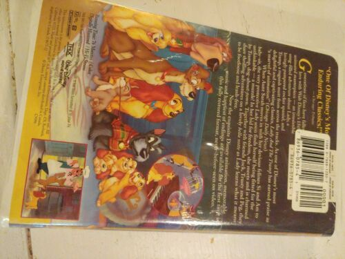 Lady and the Tramp (VHS, 1998, Clam Shell) New Sealed Fully Restored image 4