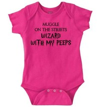 Muggle On Street Wizard With Peep Funny Shirt Romper Bodysuit - $6.99+
