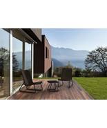 Set of 3 Pc All Weather Furniture Patio Garden Stylish Rattan Design Com... - $97.77