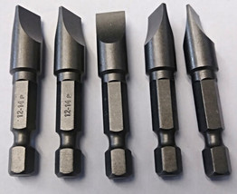"Bosch 2610001120 12-14 x 2"" Long Slotted Power Bits (5 Pieces) - $3.96"