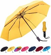 Rain-Mate Compact Travel Umbrella - Windproof, Reinforced Canopy, Ergono... - $21.18