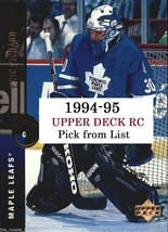 1994-95 Upper Deck RC | #480-522 | LOT x1 | Pick Player from list - $0.61 - $1.20