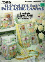 Clowns for Baby in Plastic Canvas Leisure Arts 1349 Pastels 9 Projects t... - $4.99