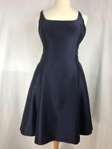 Ralph Lauren Women Dress Flare Sleeveless Square Neck Blue Size 12  - $35.74