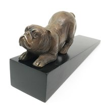 Brass Made Crouching Muscular Bulldog Door Stop Stopper Wedge Home Decor - €28,73 EUR