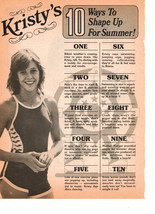 Kristy Mcnichol teen magazine pinup clipping 10 ways to shape up for summer