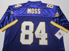 RANDY MOSS / HALL OF FAME / AUTOGRAPHED MINNESOTA VIKINGS THROWBACK JERSEY / COA
