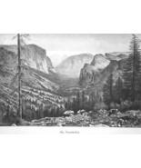 YOSEMITE VALLEY Sierra Nevada California - 1883 German Print - $21.60