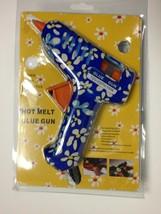 Hot Melt Glue Gun Blue Flowers 120 220 volt 10 watt - $11.71