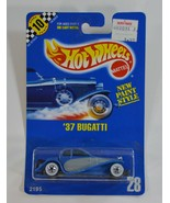 Hot Wheels '37 Bugatti #28 Speed Points Blue Card WW Blue & Gray New Pai... - $10.99