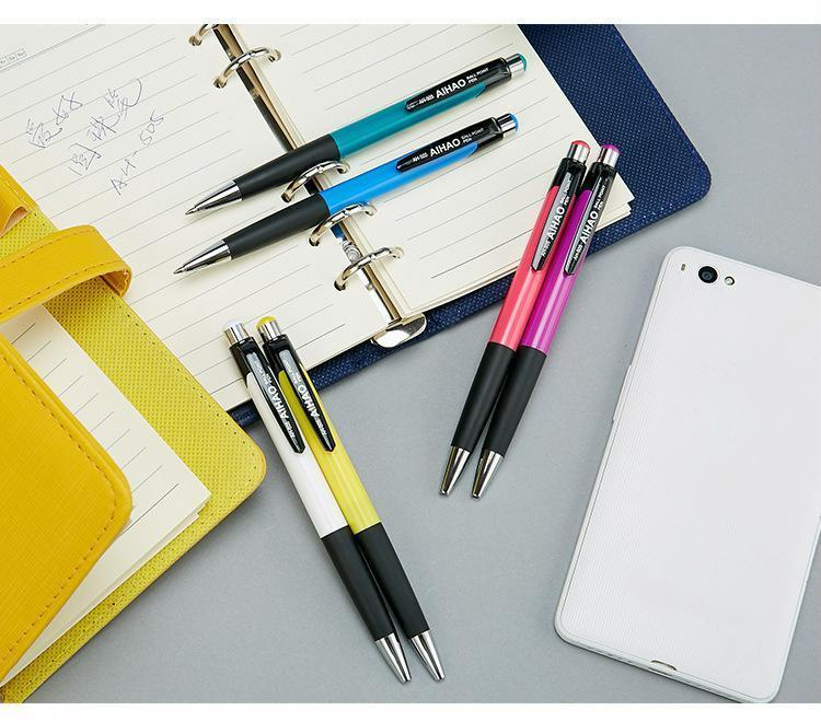 12 pcs/Lot Blue ink color ballpoint pen 0.7mm roller ball office pens Stationery