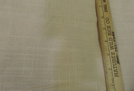 """Woven Linen Fabric in Cream Tan Brown Color 56"""" Wide - 58"""" Long Crafts Sewing - $24.74"""