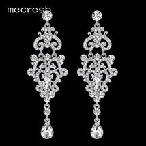 Crystal Chandelier Long Earrings Wedding Engagement Jewelry - $11.95