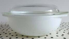PYREX White Opal Hostess Casserole 023 WITH LID Dome  Tab Handles - $39.59