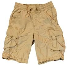 Gap Kids Boys Large Elastic Waist Tan Khaki Cargo Shorts - $9.85