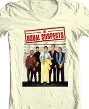 The Usual Suspects T shirt retro 90s movie white 100% cotton graphic print tee image 2