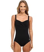NWT TYR twist bra control fit swimsuit 1 Piece performance black $75 dur... - $42.68
