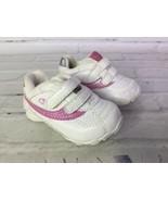 Champion Baby Girls 2W Pre-Walk White Pink Glitter Impact Tennis Shoes S... - $16.82