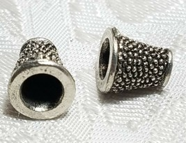 MILGRAIN FINE PEWTER BEAD CONE CAP - 9mmx8mmx8mm - Holes 2 and 5mm image 1