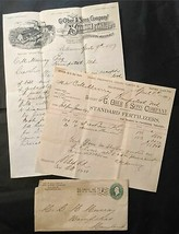 1897 G Ober & Sons Standard Fertilizers Co Cover, Invoice, & Deluxe Stat... - $17.99