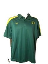 University Of Oregon Ducks Polo Shirt Green Nike Dri Fit Football Mens X... - $68.59