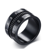 Unique Men's Rings Stainless Steel SLR Camera Lens Ring For Men Fashion ... - £10.84 GBP
