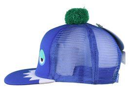 Neff Men's Blue Monster Snapback Baseball Pom Hat Cap NWT image 5