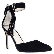 Nine West Everafter Side Tassel D'Orsay Ankle Strap Dress Pumps, Black, 10 US - $64.31