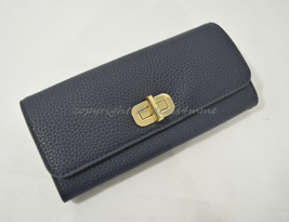 NWT MICHAEL Michael Kors Sullivan Large Carryall Leather Wallet in Admiral Blue - $139.00