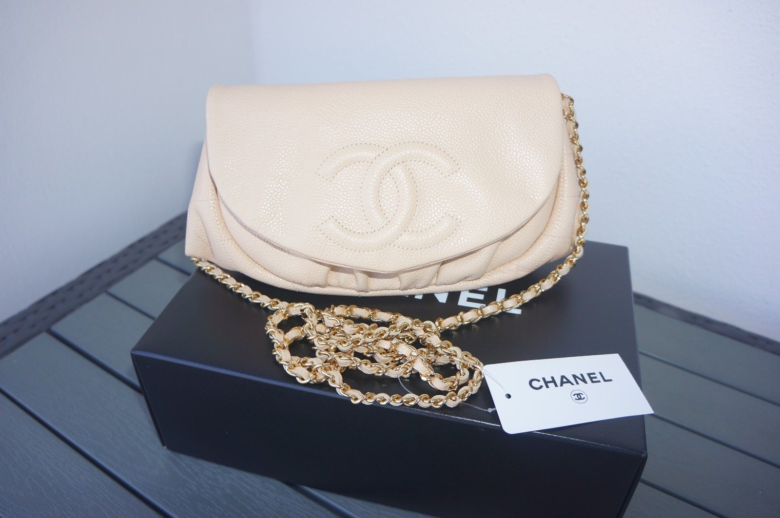 e3149a41baf1cc NEW Chanel Beige Caviar Leather GHW Wallet and 50 similar items