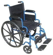 Wheelchair 18 in. Seat Flip Back Padded Desk Armrests Swing Away Footrest - $105.98