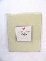 Laura Ashley Gwyneth Gingham Yellow Cotton 87 x 16 Lined Designer Valance - $38.00