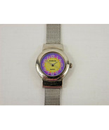 Rumors Silver Tone Quartz Watch Woman Purple Face Mesh Band Round 90s - ... - $9.99