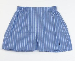 Ralph Lauren Blue Stripe 100% Cotton Woven Boxer Underwear Mens NWT - $18.74