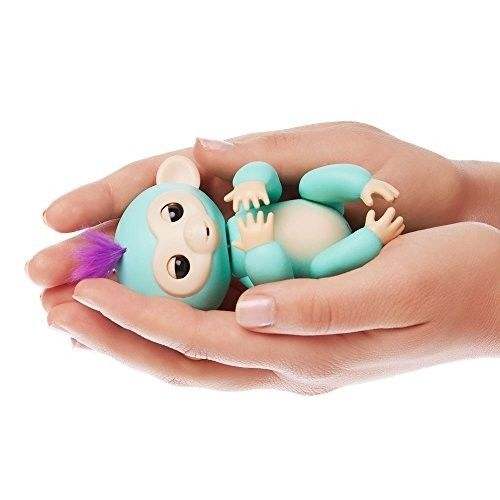 Fingerlings - Interactive Baby Monkey - Zoe (Turquoise with Purple Hair) By WowW