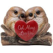 SPECIAL Statue of 2 Owl in Love Figurines Birthday Romantic Gift Home De... - $29.99