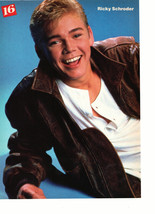 Ricky Schroder Danny Ponce teen magazine pinup clipping leather jacket Bop