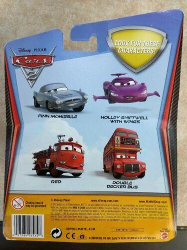 2010 Mattel sealed Disney Cars Pixar Double Decker Deluxe Bus metal toy figure  image 4