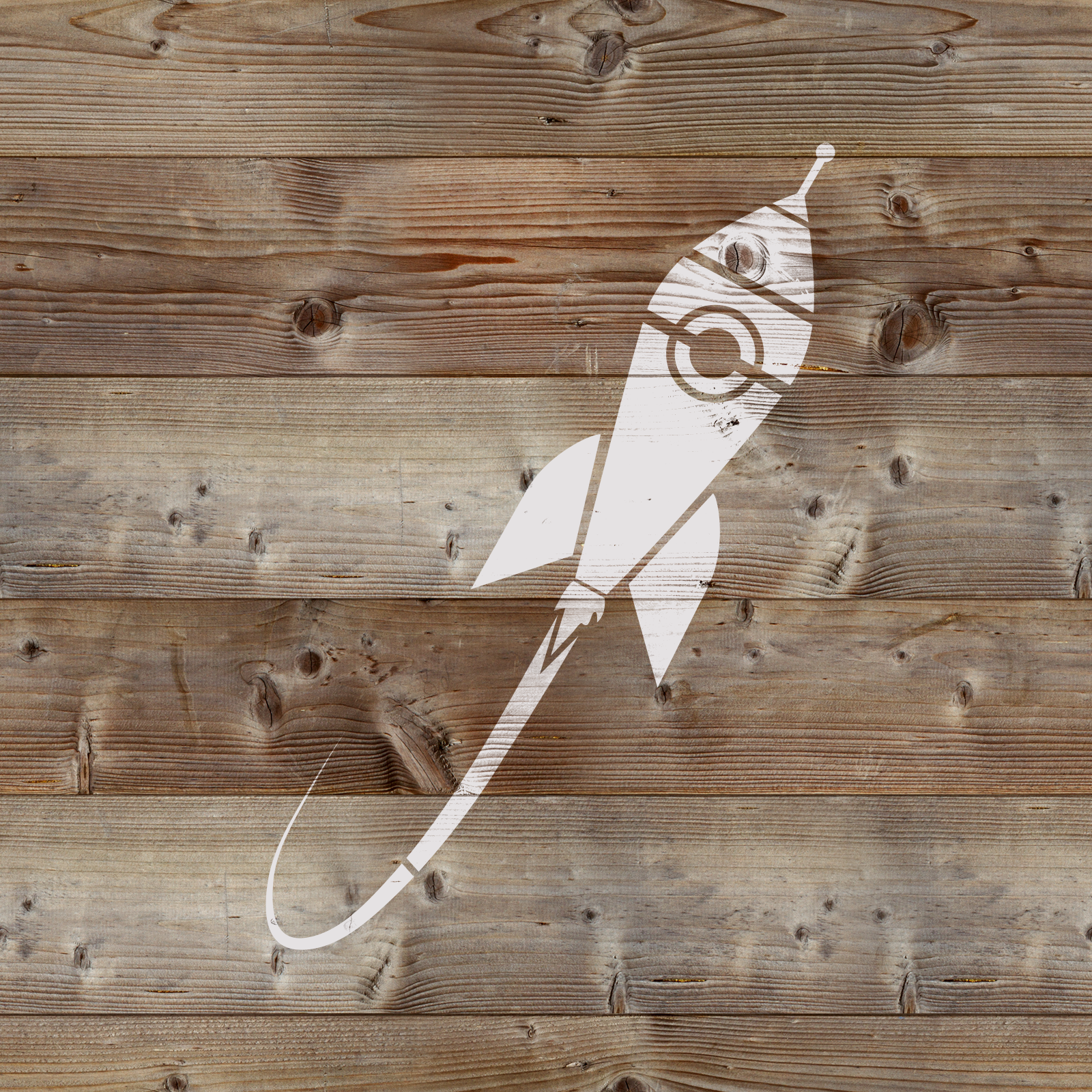Rocket Ship Stencil - Reusable Stencils of Rocket Ship in Multiple Sizes