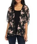 Polly & Esther Juniors' Short-Sleeve Hi-Low Floral Mesh Kimono NWT Medium - $6.72