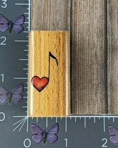 Stampcraft Heart Love Note Music Rubber Stamp Wood #AG86 - $3.47