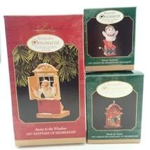 3 Club Member Window Miniature Vtg Christmas Tree Keepsake Ornament Lot ... - $15.81