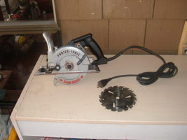 """PORTER CABLE 345 6"""" SAW BOSS BLADE LEFT 120V 9A USED IN GOOD WORKING CON... - $159.00"""