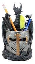 Ebros Medieval Fantasy Saint George Dragon Guarding Medieval Knight Helm... - €27,06 EUR