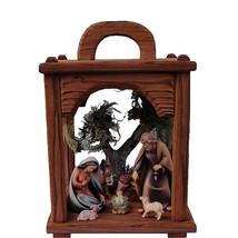 Christmas Nativity Scene Wooden Lantern, Church supplies, Religious gifts - $229.00+
